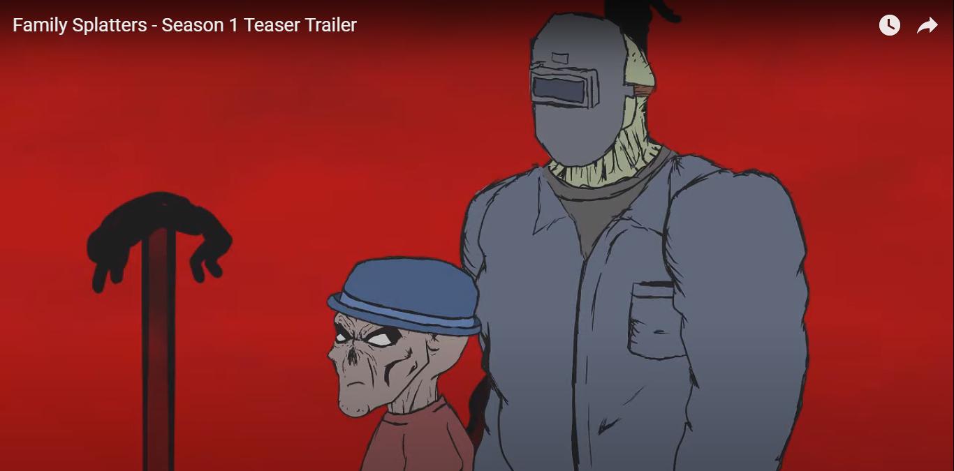 """Conoce """"Family Splatters"""", la nueva serie animada de terror para adultos"""